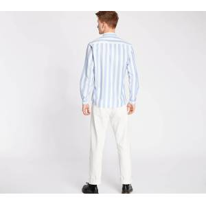 Norse Projects Anton Oxford Shirt Pale Blue Wide Stripe - male - M
