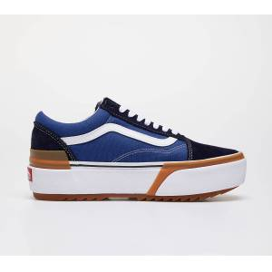 Vans Old Skool Stacked Navy/ True White - unisex - 34.5 - Publicité