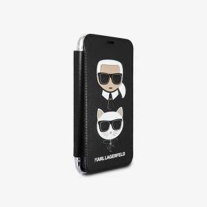 Apple Karl Lagerfeld Karl and Choupette Book iPhone XS Max Case Black - unisex - Taille universelle - Publicité