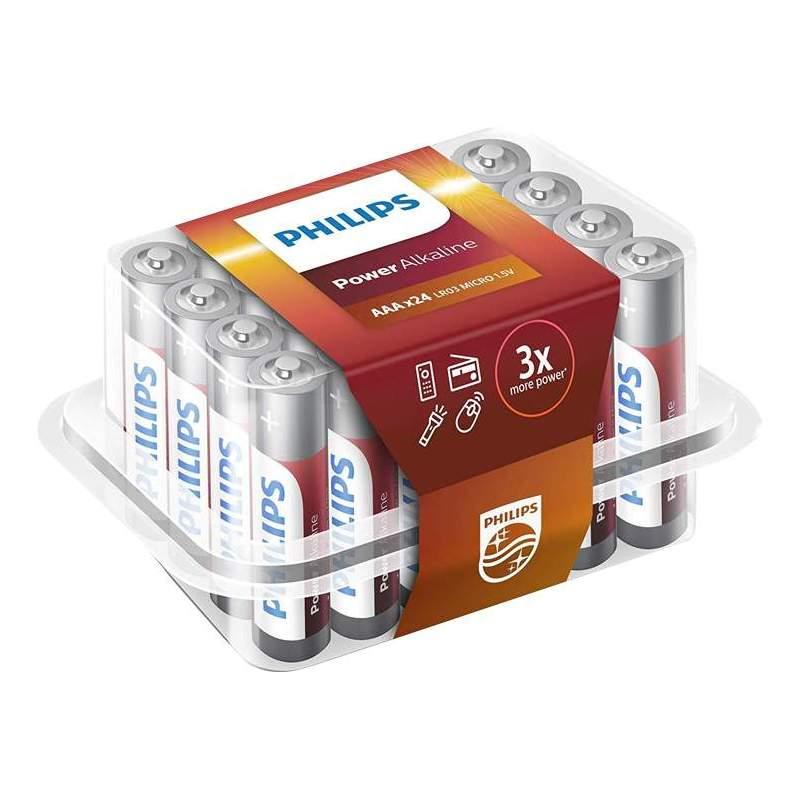 Philips 24 Piles Alcalines AAA / LR03 Philips Power Alkaline