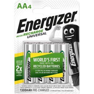 Energizer 4 Piles Rechargeables AA / HR6 1300mAh Energizer Universal - Publicité