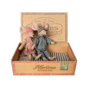 Maileg Maman & papa souris dans leur boîte à cigares -  15 cm - Publicité