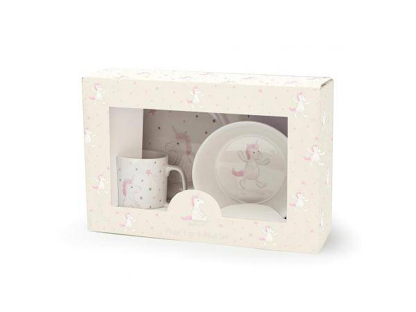 Jellycat Bashful unicorn bowl, cup & plate - 20 cm