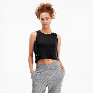 PUMA Top Studio Crop Lace ank pour Femme, Noir, Taille L, Vêtements