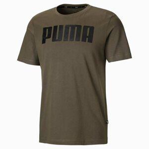 PUMA T-Shirt Essentials pour Homme, Vert, Taille M, Vêtements