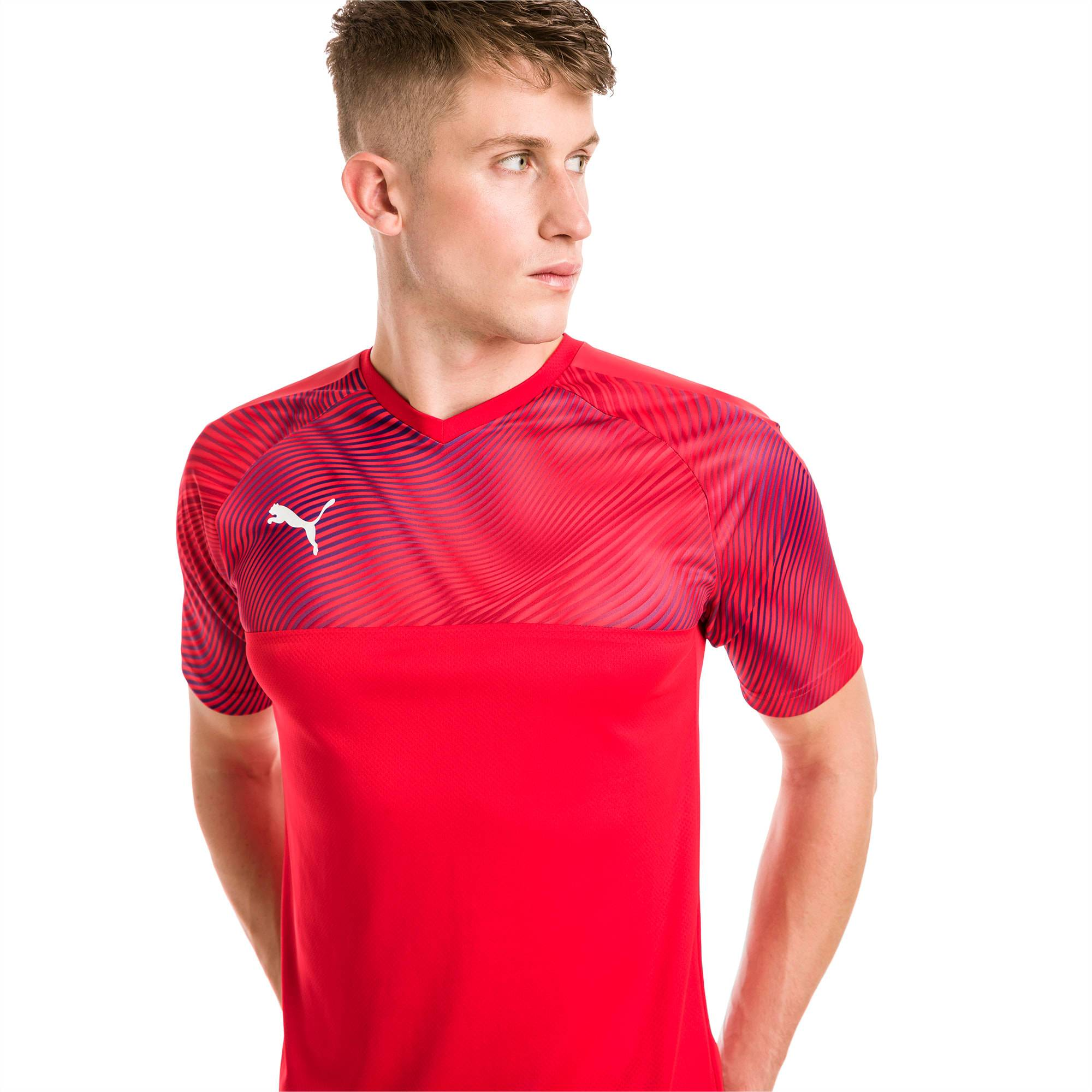 PUMA Maillot Football CUP pour Homme, Rouge/Blanc, Taille XS, Vêtements