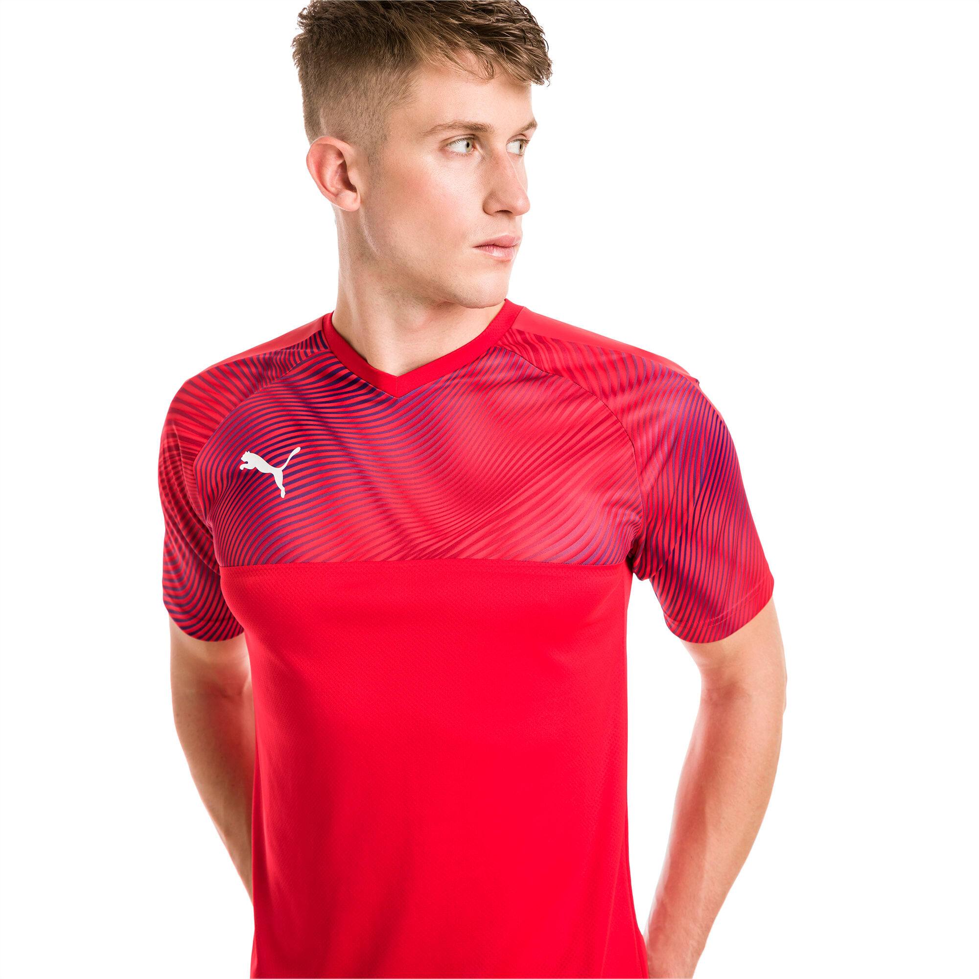 PUMA Maillot Football CUP pour Homme, Rouge/Blanc, Taille 4XL, Vêtements