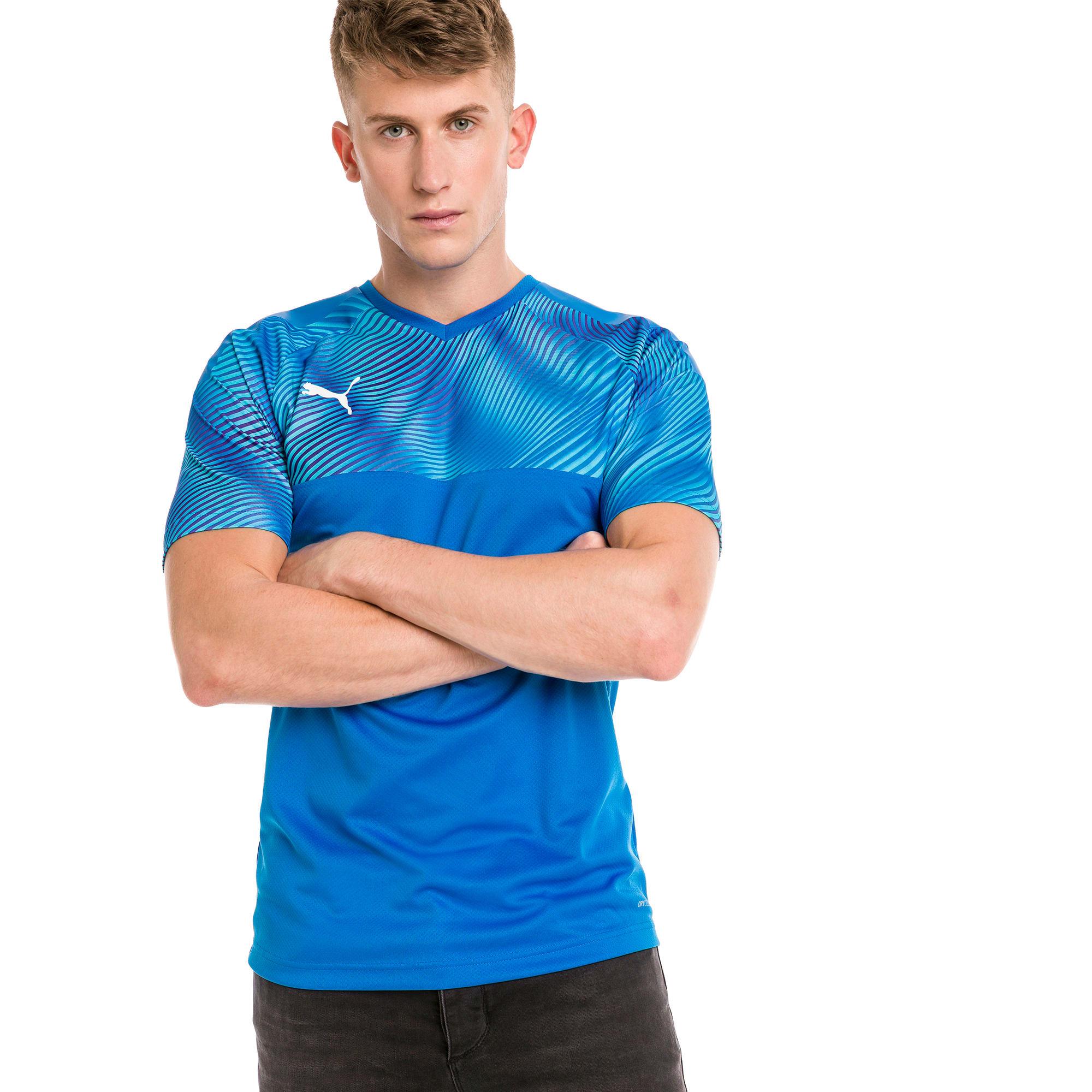 PUMA Maillot Football CUP pour Homme, Bleu, Taille XS, Vêtements