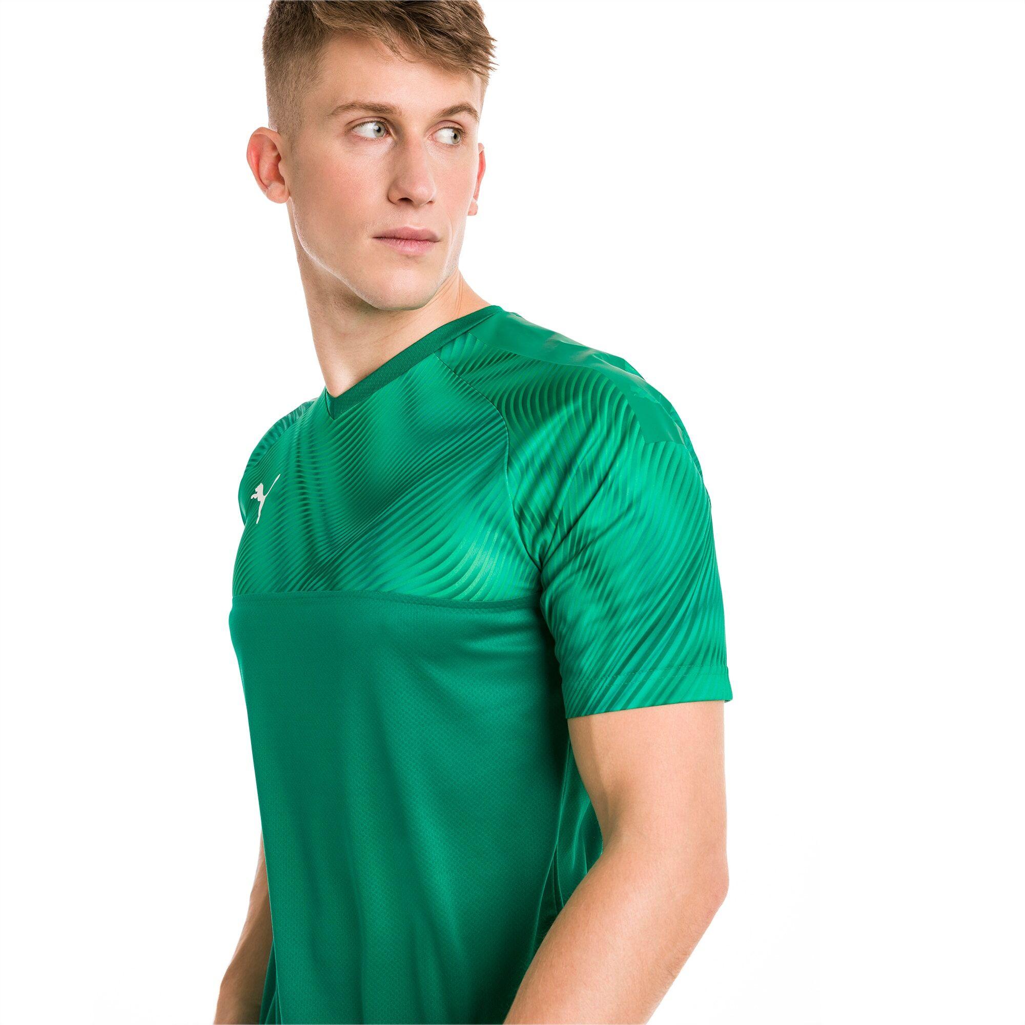 PUMA Maillot Football CUP pour Homme, Vert/Blanc, Taille XS, Vêtements