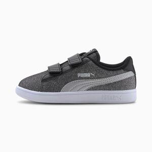 PUMA Chaussure Basket PUMA Smash v2 Glitz Glam pour petite fille, Noir/Argent, Taille 30, Chaussures