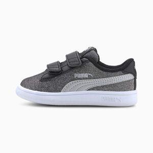 PUMA Chaussure Basket PUMA Smash v2 Glitz Glam pour bébé, Noir/Argent, Taille 22, Chaussures
