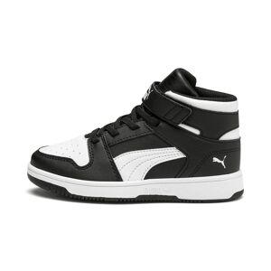 PUMA Chaussure Basket Rebound Lay-Up SL V pour enfant, Noir/Blanc, Taille 31.5, Chaussures