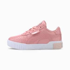 PUMA Chaussure Basket Cali Patent Kids pour fille, Blanc, Taille 34, Chaussures