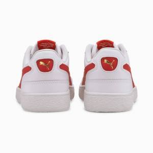PUMA Chaussure Ralph Sampson Lo sneakers, Blanc/Rouge, Taille 46, Chaussures - Publicité