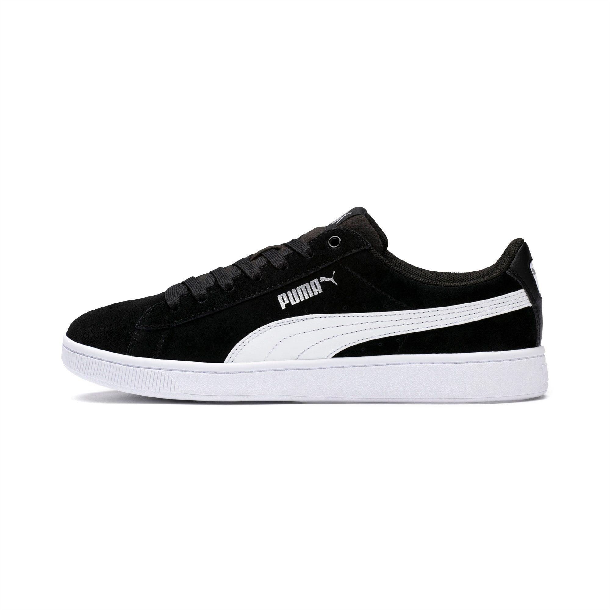 PUMA Chaussure Basket Vikky v2 pour Femme, Noir/Blanc/Argent, Taille 35.5, Chaussures