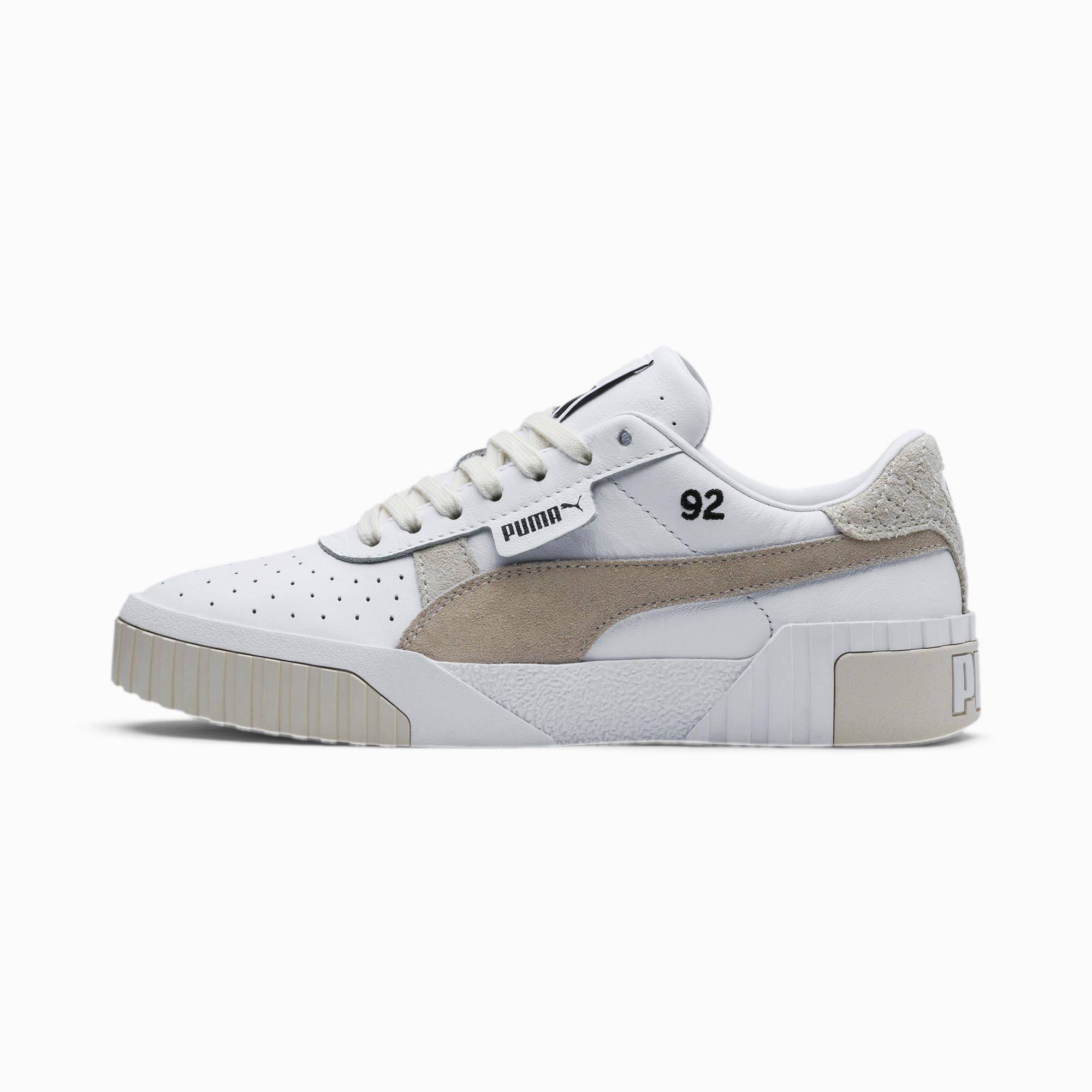 PUMA Chaussure Basket PUMA x SELENA GOMEZ Cali Lthr Suede pour Femme, Argent/Gris/Blanc, Taille 35.5, Chaussures