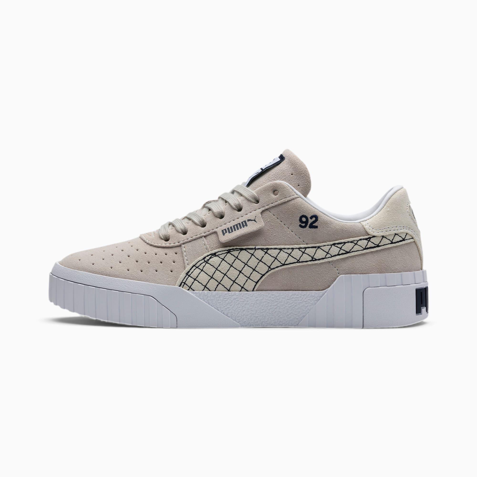 PUMA Chaussure Basket PUMA x SELENA GOMEZ Cali Suede Quilt pour Femme, Argent/Gris/Blanc, Taille 35.5, Chaussures