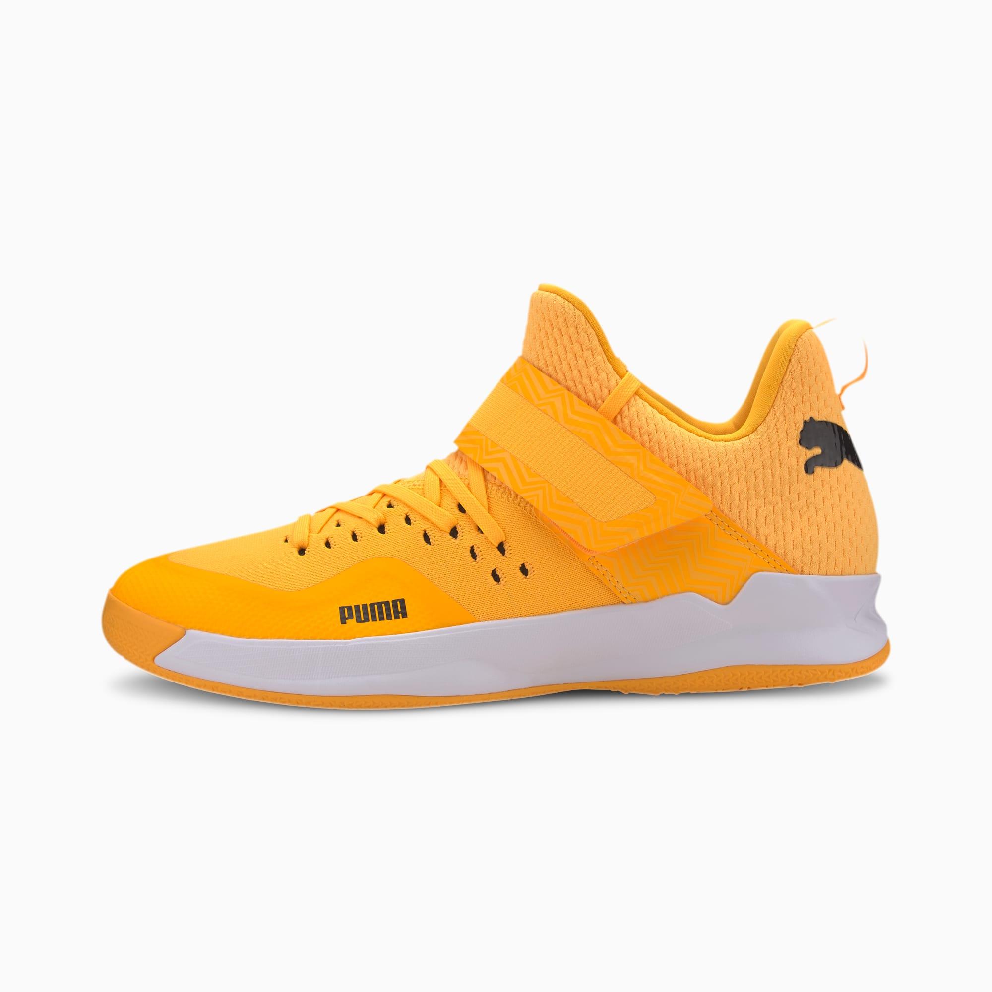 PUMA Chaussure Basket Rise XT NETFIT EH 2 Youth pour Enfant, Orange/Noir/Blanc, Taille 36, Chaussures