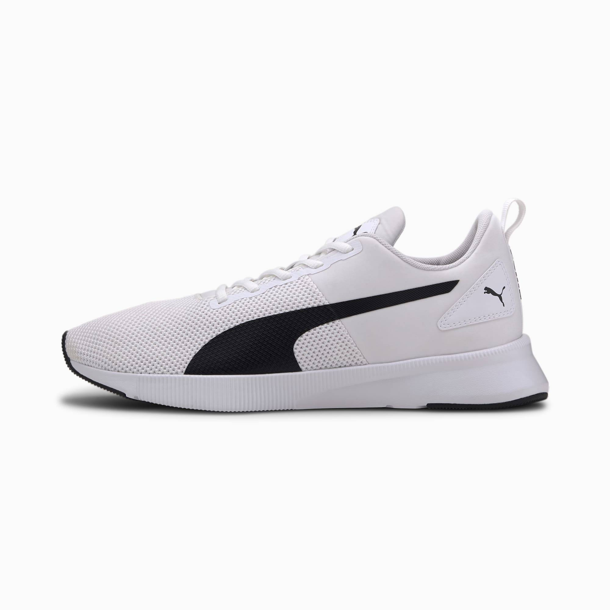 PUMA Chaussure de course Flyer Runner, Blanc/Noir, Taille 44, Chaussures