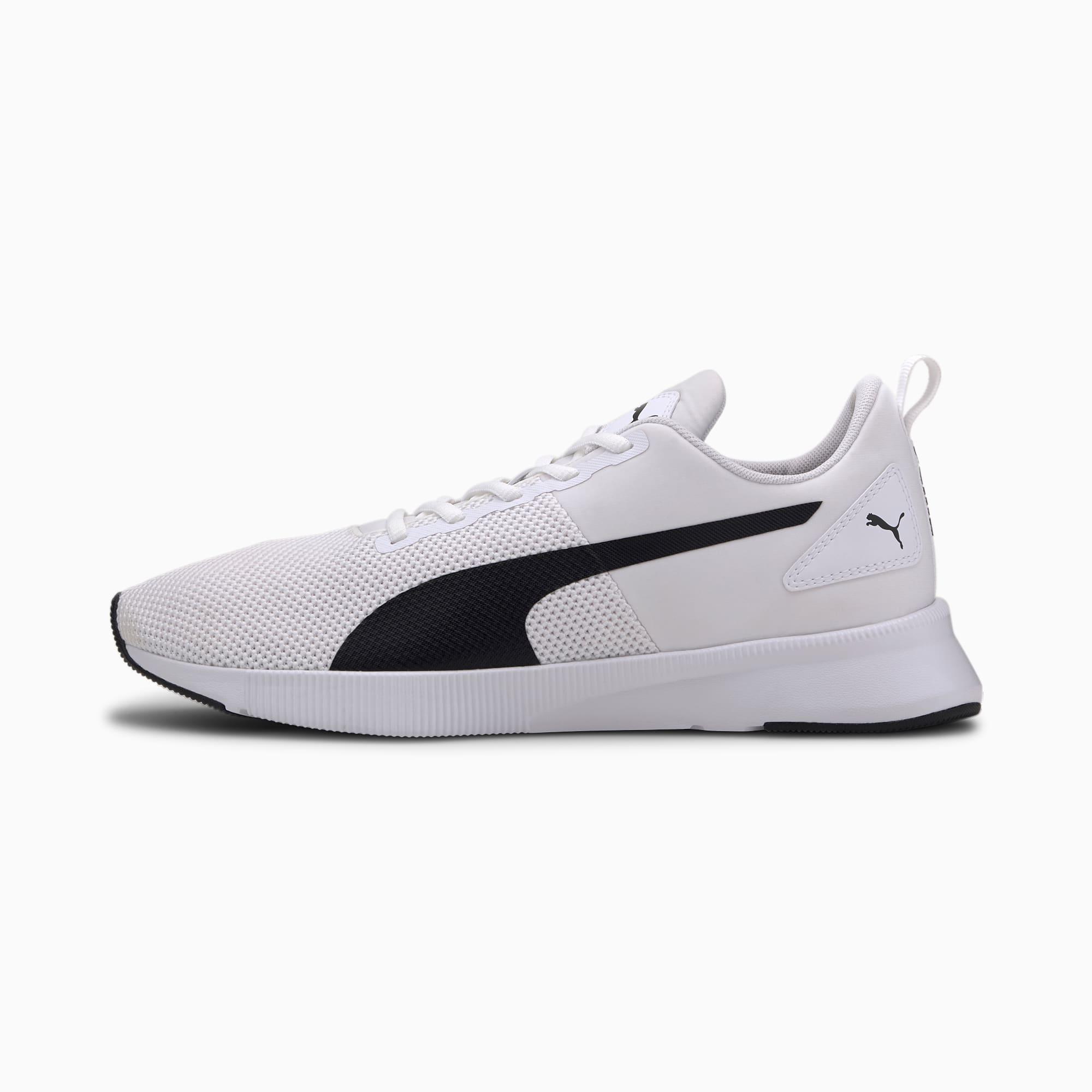 PUMA Chaussure de course Flyer Runner, Blanc/Noir, Taille 46, Chaussures
