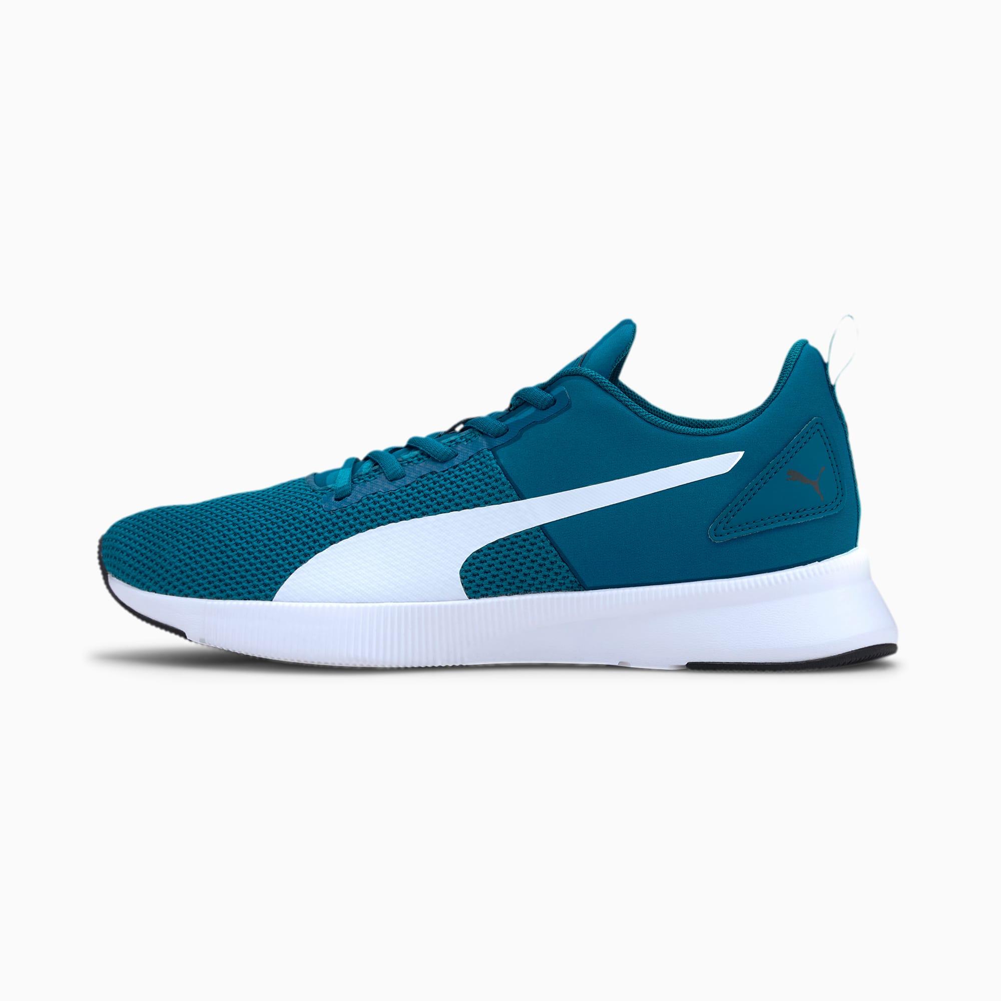 PUMA Chaussure de course Flyer Runner, Blanc/Bleu, Taille 45, Chaussures