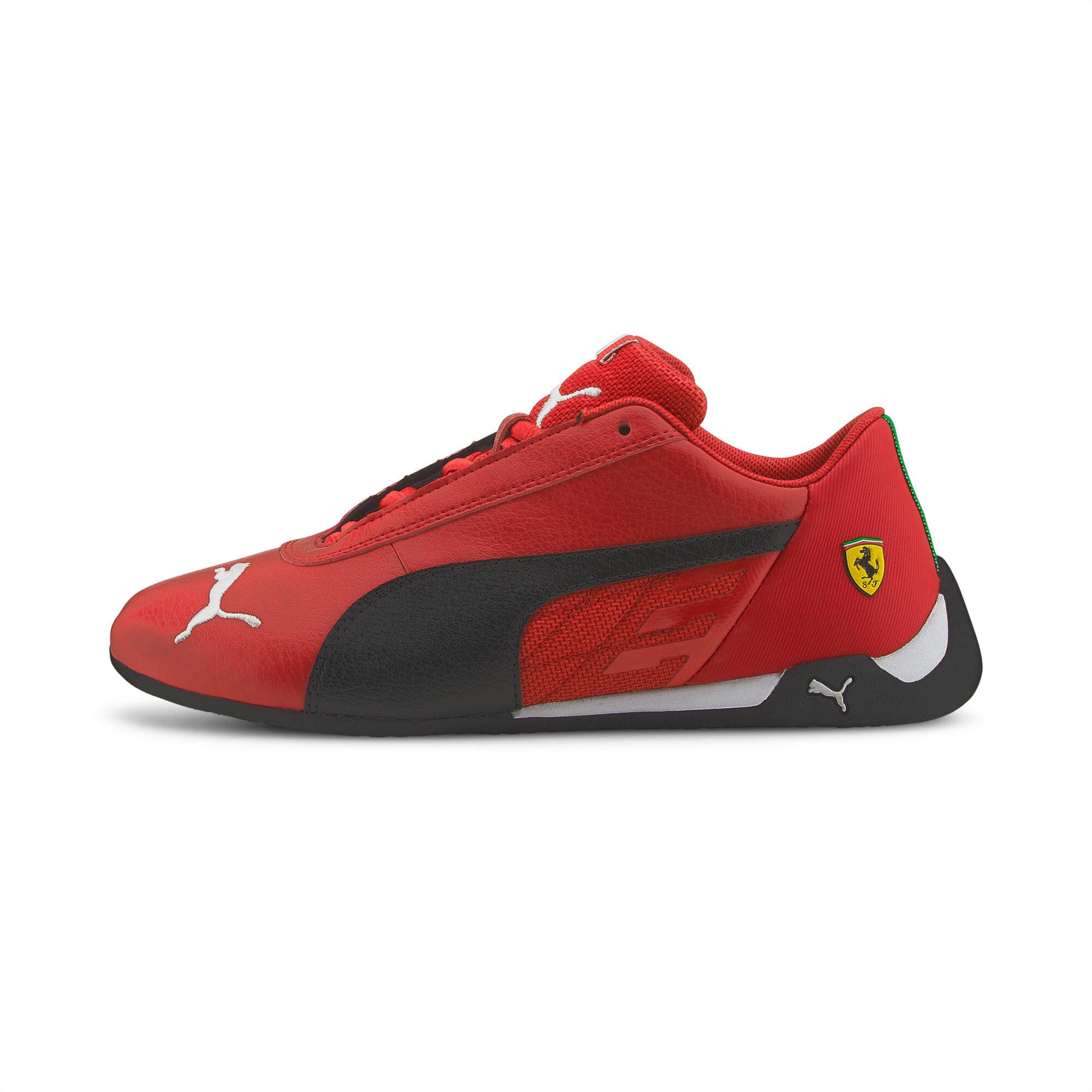 PUMA Chaussure de sport automobile Scuderia Ferrari Race R-Cat Youth pour Enfant, Rouge/Noir, Taille 37, Chaussures