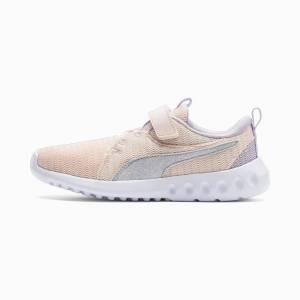 PUMA Chaussure Basket Carson 2 Glitter V pour fille, Violet/Rose/Bruyère, Taille 28.5, Chaussures
