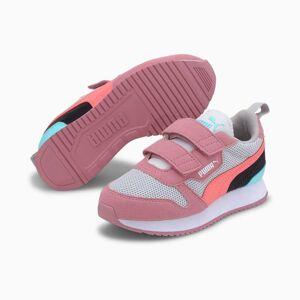 PUMA Chaussure Basket R78 Kids pour Enfant, Gris/Rose, Taille 35, Chaussures - Publicité