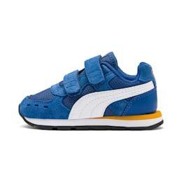 PUMA Chaussure Basket Vista V pour bébé, Bleu/Blanc, Taille 27