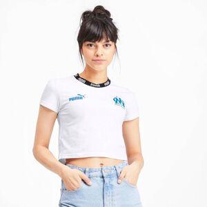 PUMA T-Shirt Olympique de Marseille Football Culture pour Femme, Blanc, Taille XL, Vêtements