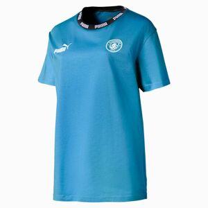 PUMA T-Shirt Manchester City Football Culture pour Femme, Bleu/Blanc, Taille XL, Vêtements