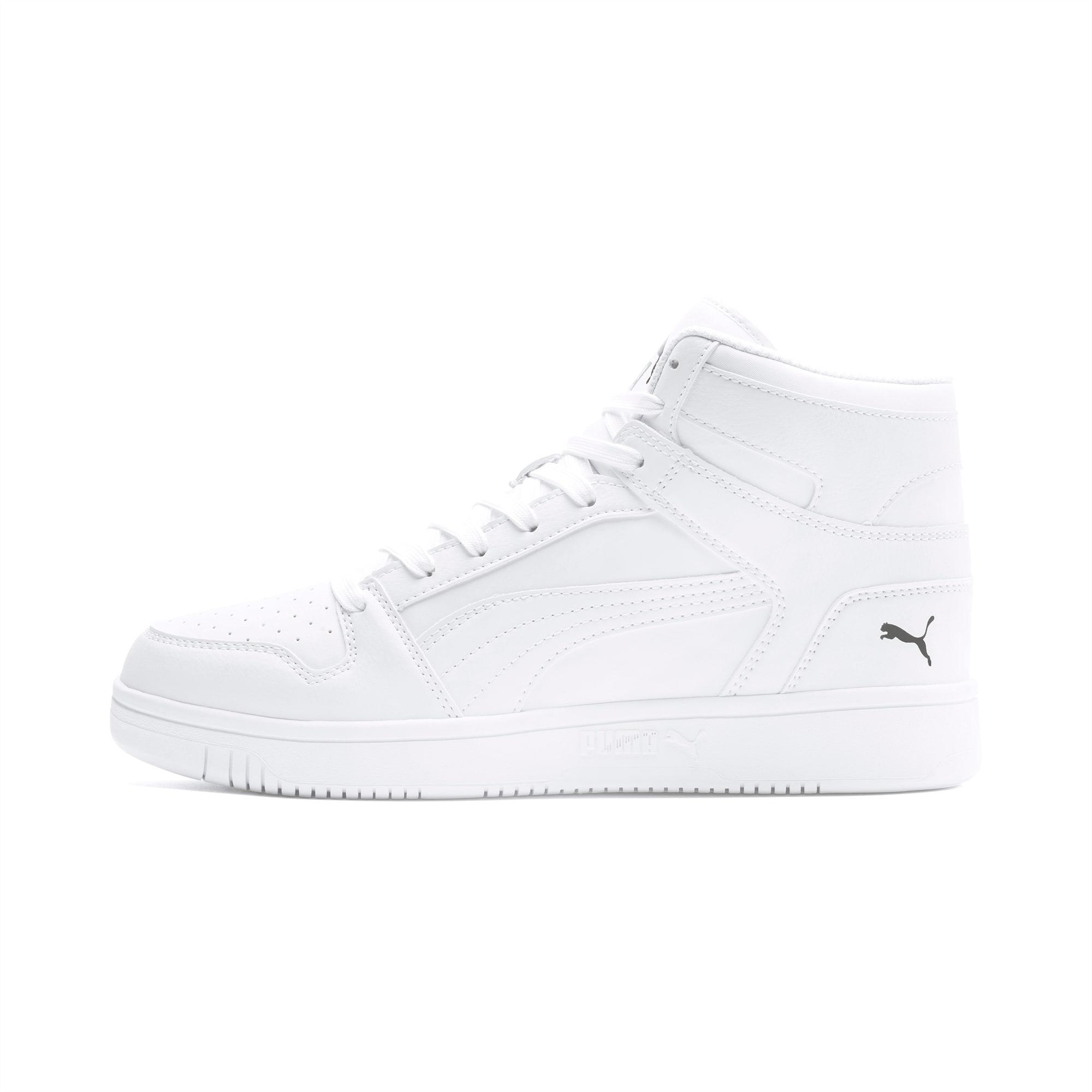 PUMA Chaussure Basket Rebound Lay Up, Blanc/Noir, Taille 40.5, Chaussures