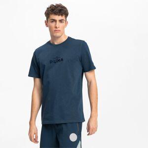 PUMA Chaussure T-Shirt Pull Up Basketball pour Homme, Bleu, Taille S, Vêtements