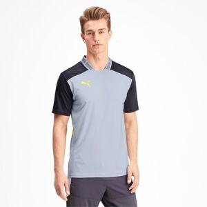 PUMA T-Shirt Pro pour Homme, Gris/Jaune, Taille S, Vêtements