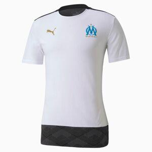 PUMA T-Shirt Olympique de Marseille Casuals Football pour Homme, Blanc/Bleu, Taille 3XL, Vêtements - Publicité