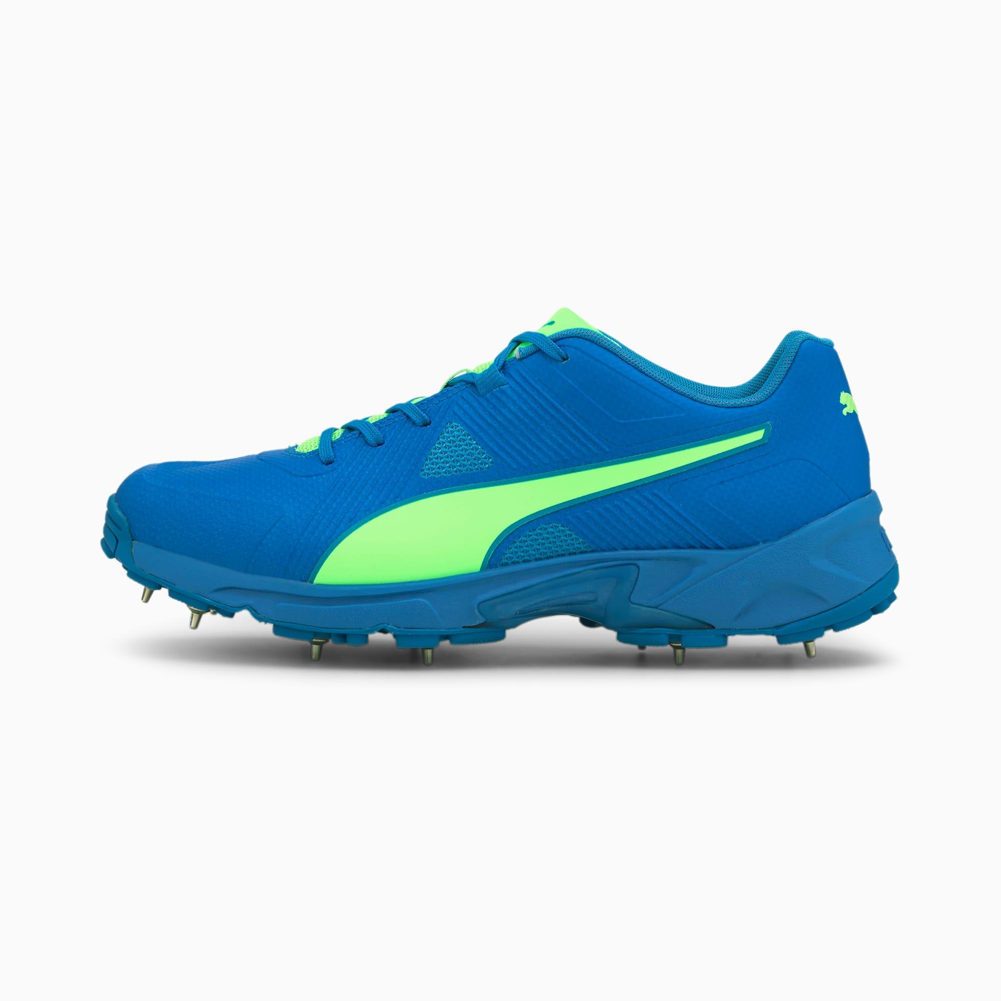 PUMA Chaussure de cricket PUMA Spike 19.1 pour Homme, Vert/Bleu, Taille 41, Chaussures