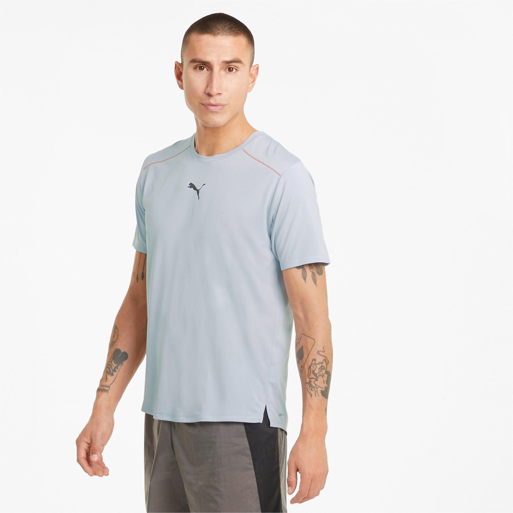 PUMA T-Shirt de course COOLadapt homme, Gris, Taille M, Vêtements