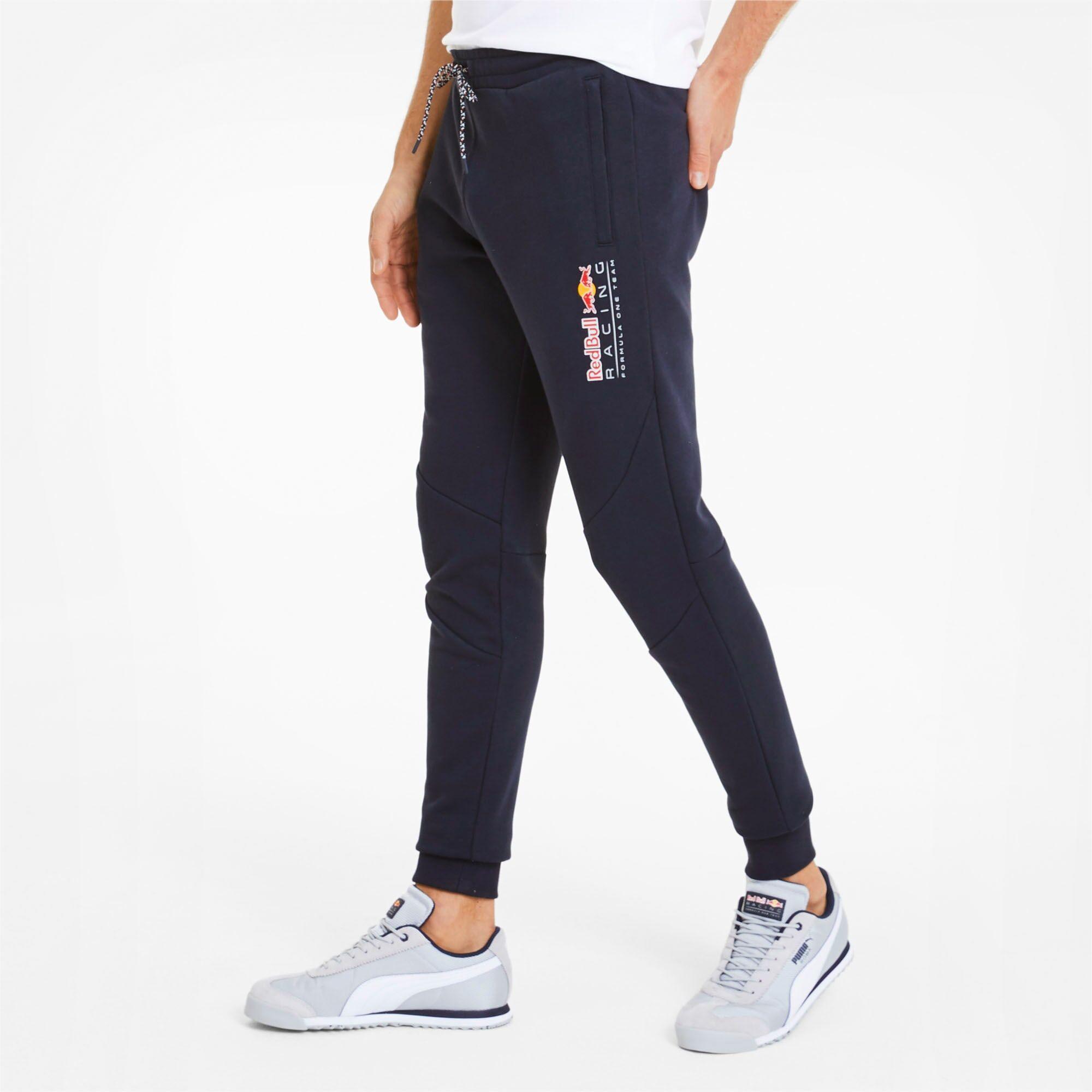 PUMA Pantalon en sweat Red Bull Racing pour Homme, Noir, Taille XL, Vêtements