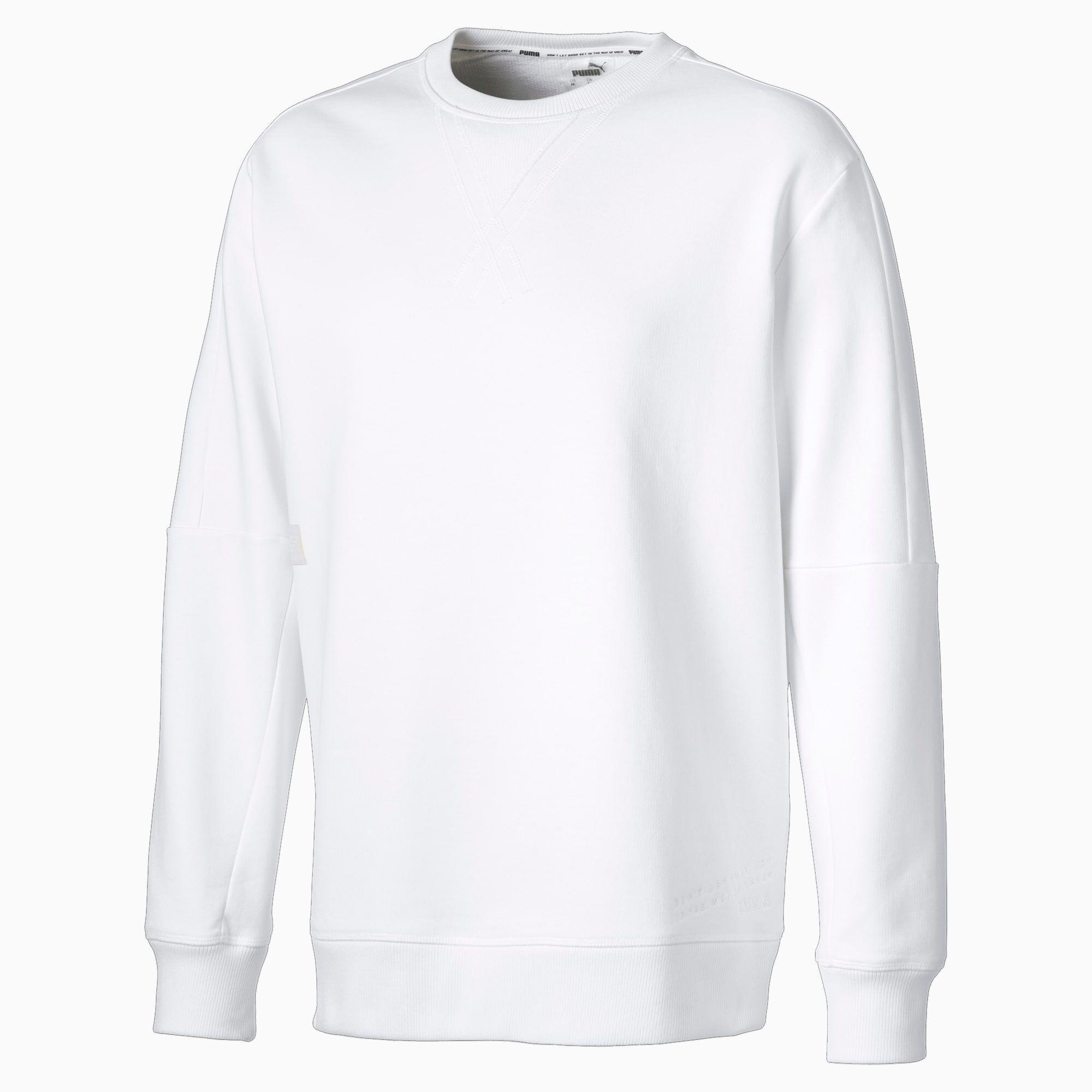 PUMA Sweat Jump Hook Basketball pour Homme, Blanc, Taille XL, Vêtements