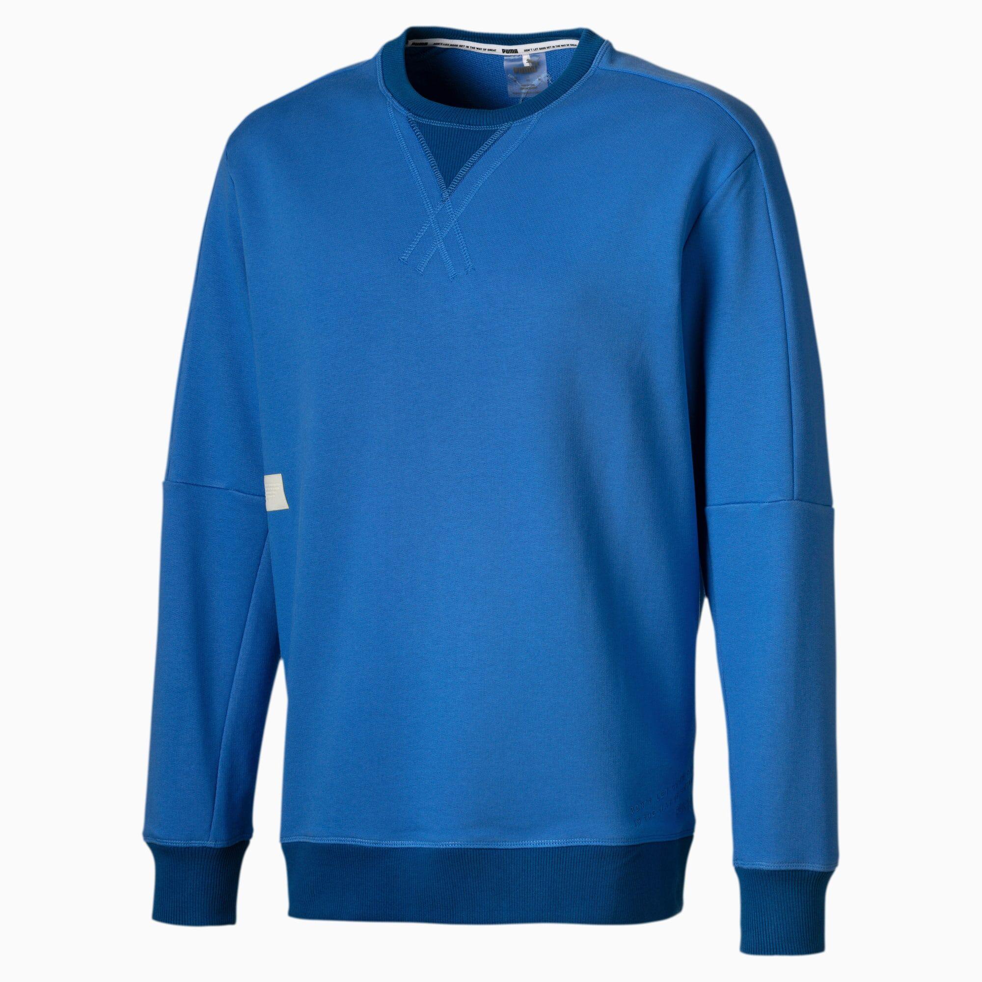 PUMA Sweat Jump Hook Basketball pour Homme, Bleu, Taille XL, Vêtements