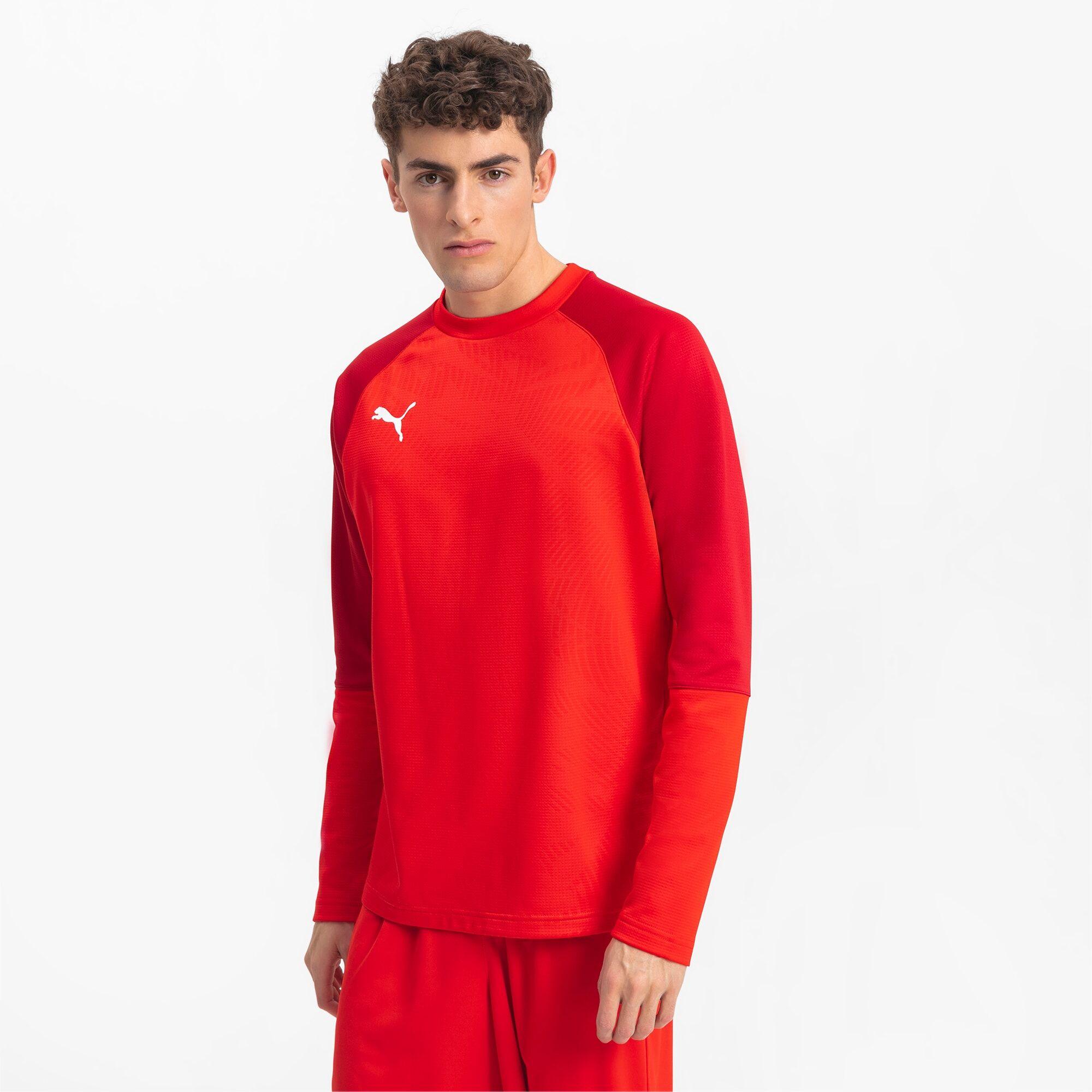 PUMA Sweat de football CUP Training Core pour Homme, Rouge, Taille XS, Vêtements