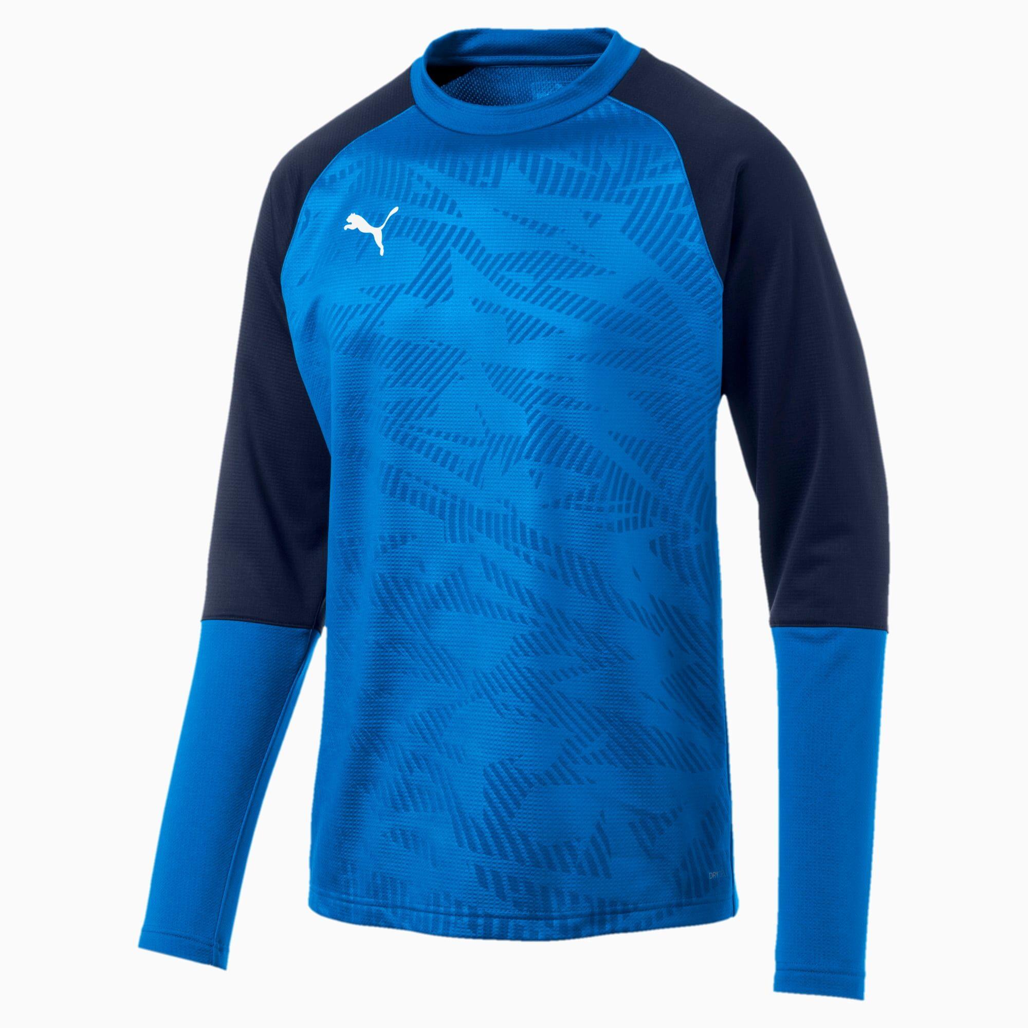 PUMA Sweat de football CUP Training Core pour Homme, Bleu, Taille XS, Vêtements