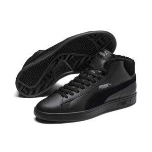 PUMA Chaussure montante Smash v2 Mid Winterized en cuir pour Homme, Noir/Gris, Taille 36, Chaussures - Publicité