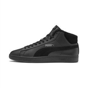 PUMA Chaussure montante Smash v2 Mid Winterized en cuir, Noir/Gris, Taille 38, Chaussures - Publicité