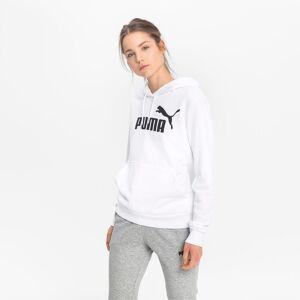 PUMA Sweat à capuche Essentials Logo pour Femme, Blanc, Taille XXS, Vêtements