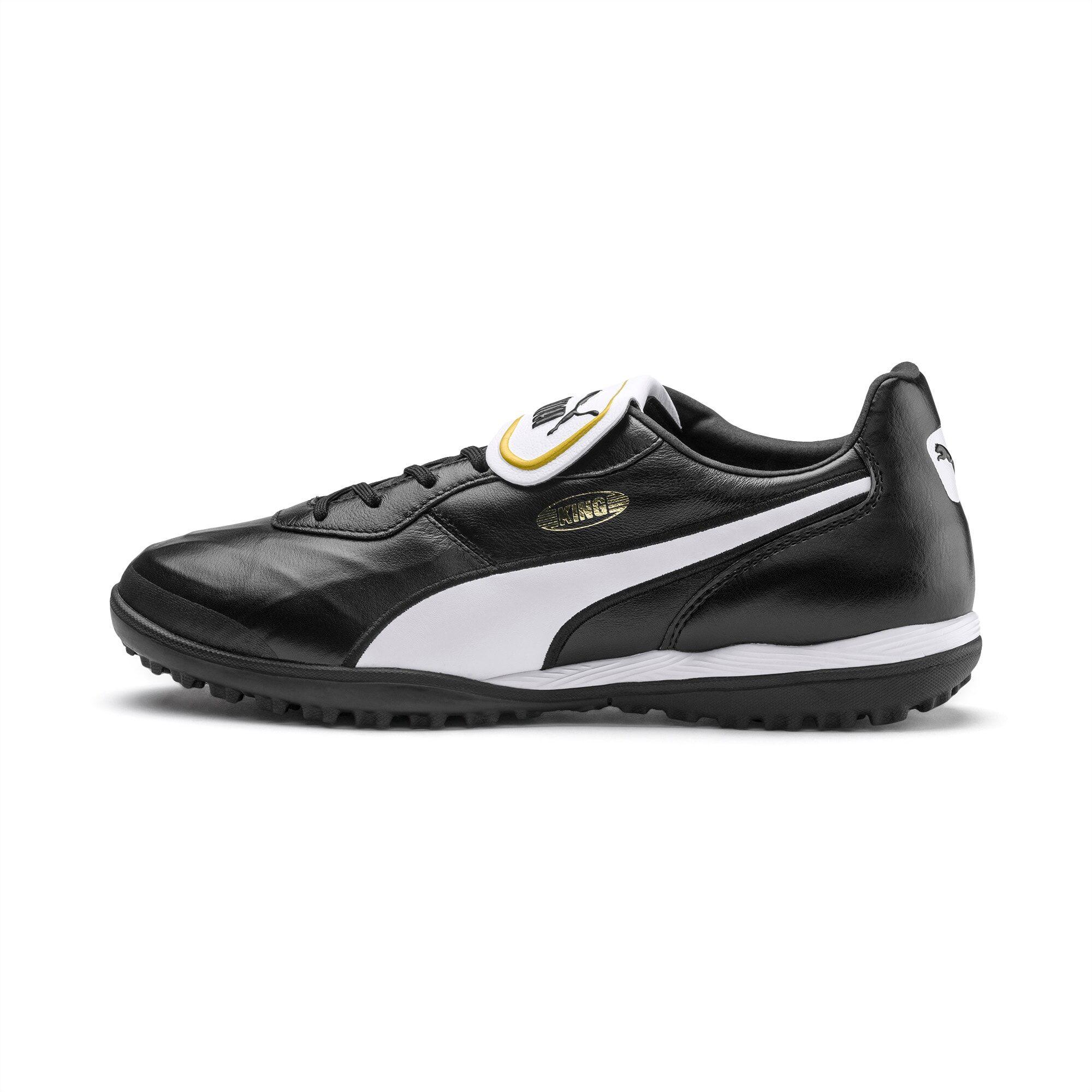 PUMA Chaussure de foot KING TOP TT, Noir/Blanc, Taille 42.5, Vêtements