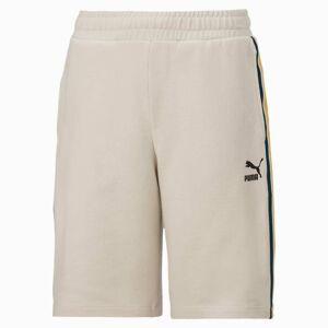 PUMA Short Tape pour enfant, Argent/Marron, Taille 116, Vêtements