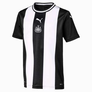 PUMA Maillot Domicile Newcastle United FC Replica pour enfant, Blanc/Noir, Taille 128, Vêtements