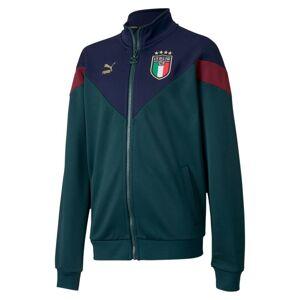 PUMA Blouson d'entraînement Italia Iconic MCS pour enfant, Vert/Bleu, Taille 140, Vêtements - Publicité
