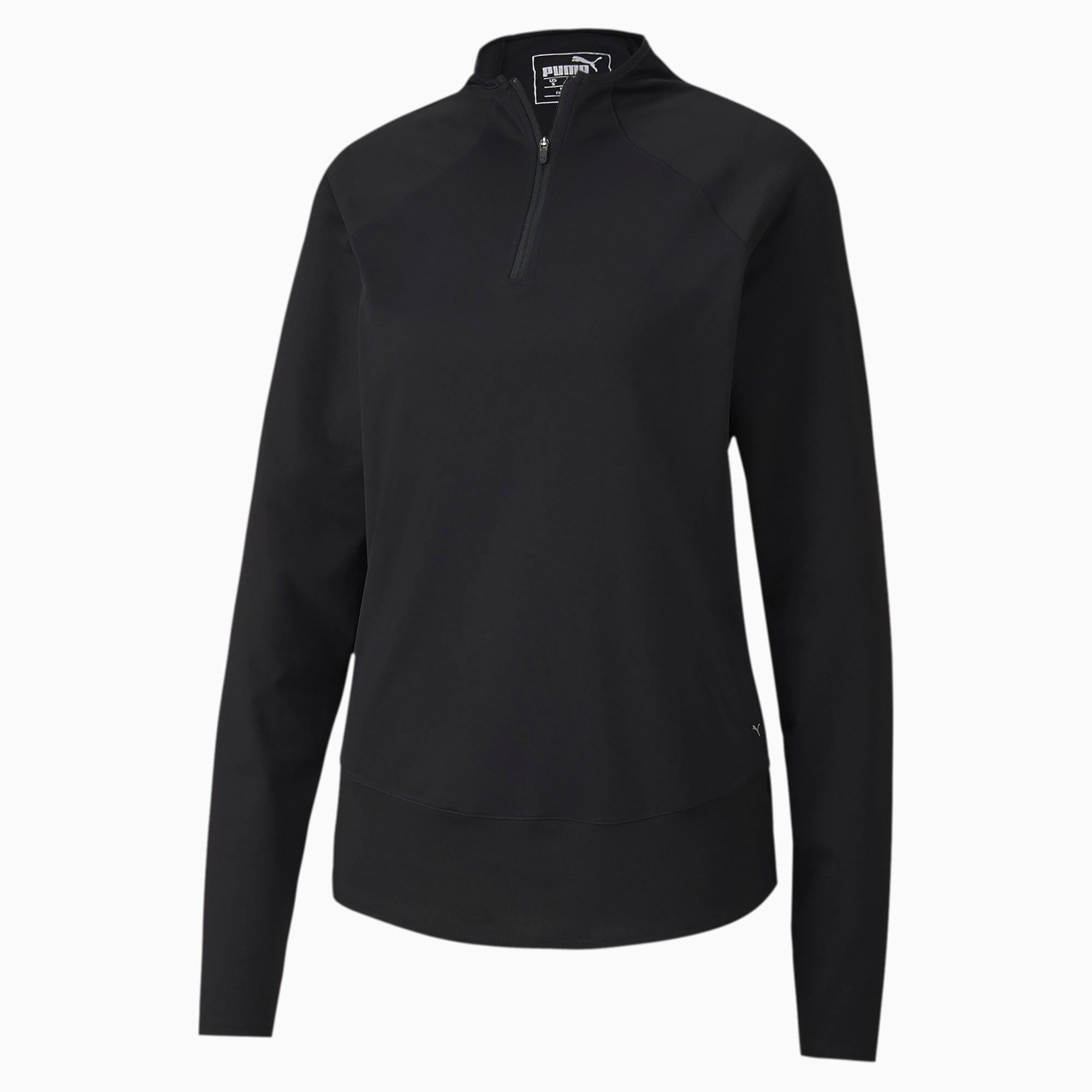 PUMA Pull de golf Mesh 1/4 Zip pour Femme, Noir, Taille S, Vêtements